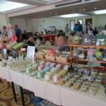 Holly and Maria chatting.....Sapooni Cyprus a great selection of candles, creams, soaps and more - all handmade